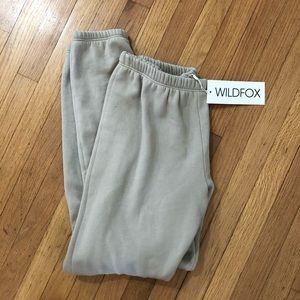 Wildfox Knox Sweatpants NWT S light tan grey color